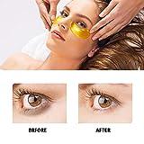Under Eye Patches - Under Eye Mask for Dark Circles Collagen Eye Mask for Puffy Eyes Under Eye Bags Treatment Gold Eye Masks Skin Care Under Eye Pads