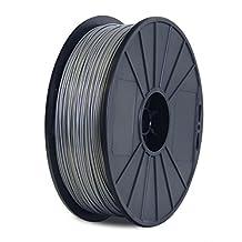 BuMat Dabssv-E Elite Abs Filament 1.75mm 0.7kg 1.5lb Printing Material Supply Spool for Flashforge Dreamer 3d Printer, Silver
