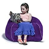 Jaxx Club Jr. Bean Bag Microsuede Chair for Kids, 2.5', Grape