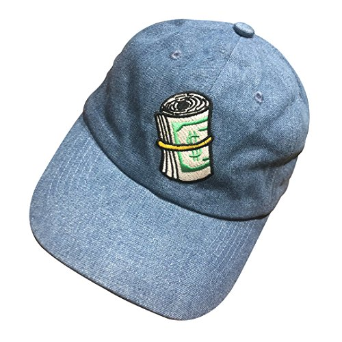 Hat Baseball Cap Embroidered Adjustable Snapback Strapback Denim ()