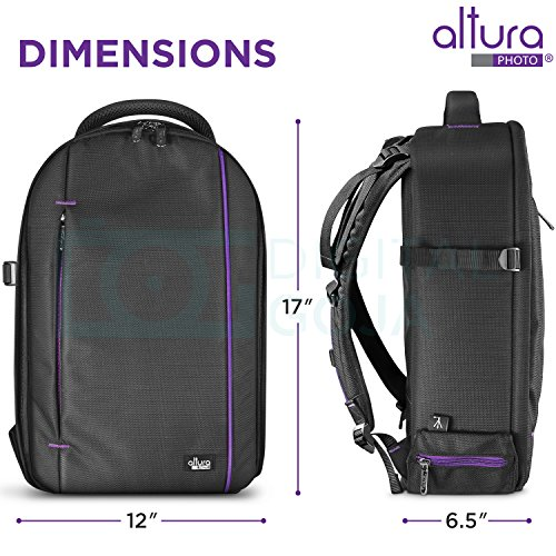 DSLR Camera and Mirrorless Backpack Bag by Altura Photo for Camera and Lens (The Wanderer Series)