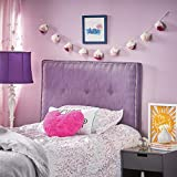 Product review for Eleen Fabric Kid's Twin Studded Edge Headboard (Light Purple)