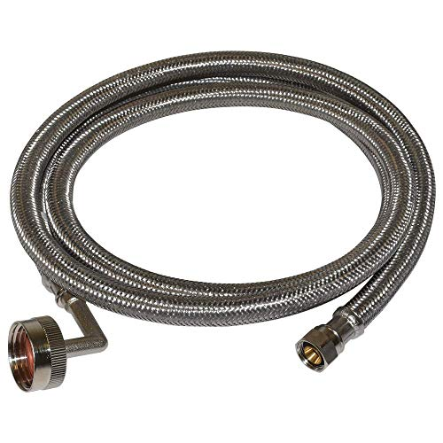 Eastman 41042 Stainless Steel Dishwasher Connector 3/8-Inch COMP x 3/4-Inch FHT, 5 Ft Length, ()