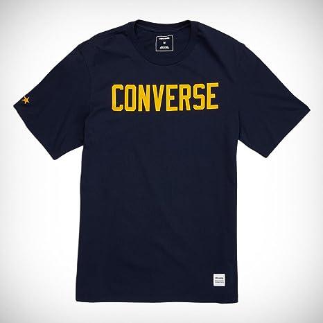 57602ce4d7 Converse Essentials Graphic Tee - Maglietta, Uomo, Rosso,: Amazon.it ...