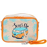 SoYoung - Yumbox Lunch Box - Raw Linen, Eco-Friendly, and Non-Toxic - Orange Surf's Up