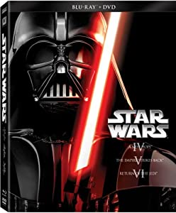 Cover Image for 'Star Wars Trilogy Episodes IV-VI (Blu-ray + DVD)'