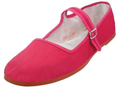 10213bc1fed G4U Women s Mary Jane Cotton Shoes Ballerina Ballet Flat Slip on Sandals  Slippers (5 B
