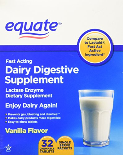 Equate - Dairy Digestive Supplement, 32 Chewable Tablets