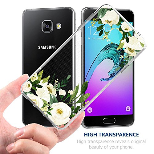 Fleurs gel Crystal Lgre A5 01 Galaxy Coque Trs Coque Choc Galaxy 2017 TPU A5 Housse de Liquid Absorption pour Flexible aux Printemps Rsistant 2017 Fleurs Silicone rayures de x7xUqwYT