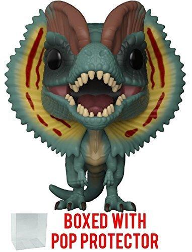 Funko Pop! Movies: Jurassic Park - Dilophosaurus Frill Open Vinyl Figure (Bundled with Pop Box Protector Case)