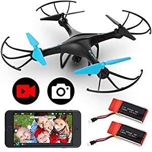 Flashandfocus.com 51FtbZkfWRL._SS300_ Force1 U45WF FPV RC Drone with Camera - VR Capable WiFi Quadcopter Remote Control Flying Drone with 720p HD Camera Live…
