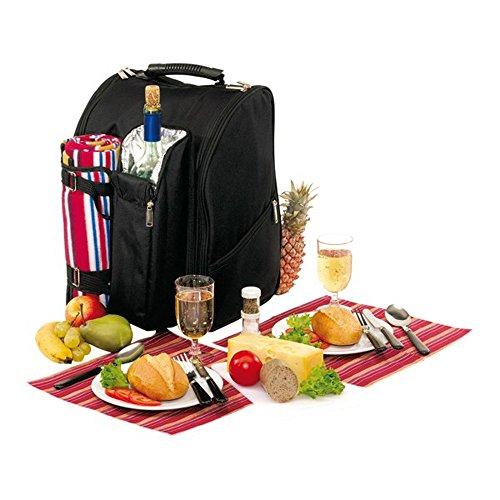Picknickrucksack-fr-2-Personen-mit-Fleece-Decke-und-Khlfach