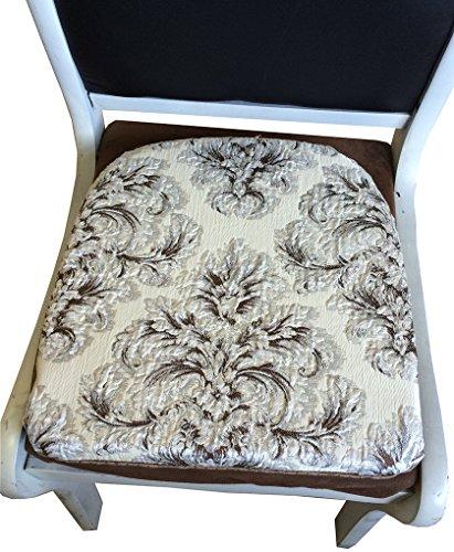 Sideli Foam Kitchen Chair Pads Non Slip 16″x16″ – Set of 6(6, COLOR2)
