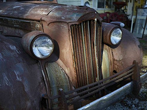 Photograph| Old, rusted truck outside the Cutler General Store in the Carroll County, Indiana, settlement of Cutler 2 Fine Art Photo Reproduction 44in x 32in