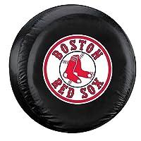 Boston Red Sox Black Tire Cover - Standard Size - Licensed MLB Baseball Merchandise
