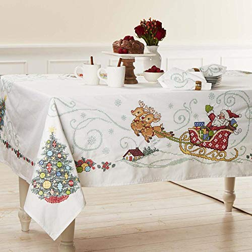 (Herrschners® Holiday Village Table Linens Stamped Cross-Stitch)