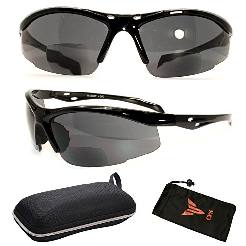 Black Fashion Style Bifocal Sport Safety Glasses UV Protection Sun Readers 3.5