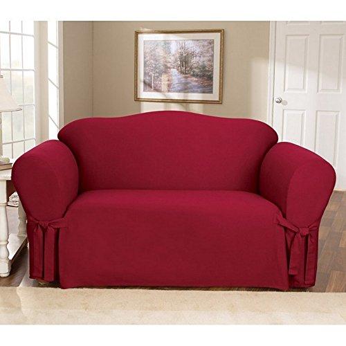 Sure Fit Cotton Duck - Sofa Slipcover - Claret (SF34053)