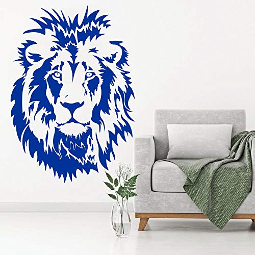 Living Room Decoration - Lion Head Kids Wall Decal Vinyl Wall Sticker Animal Poster Decoration for Boys Bedroom Living Room Office House Home Decor WW-63 ()