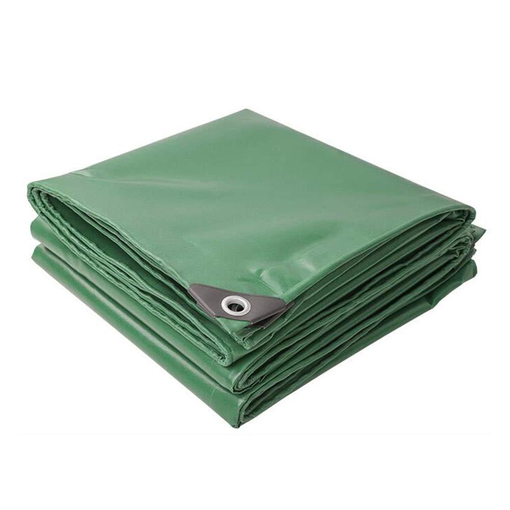 DALL 防水シートの防水頑丈な500g / Mの²、厚さ0.42mmの屋外のより厚い防水シートの耐久力のある耐久財 (Color : 緑, Size : 3×4m) 緑 3×4m