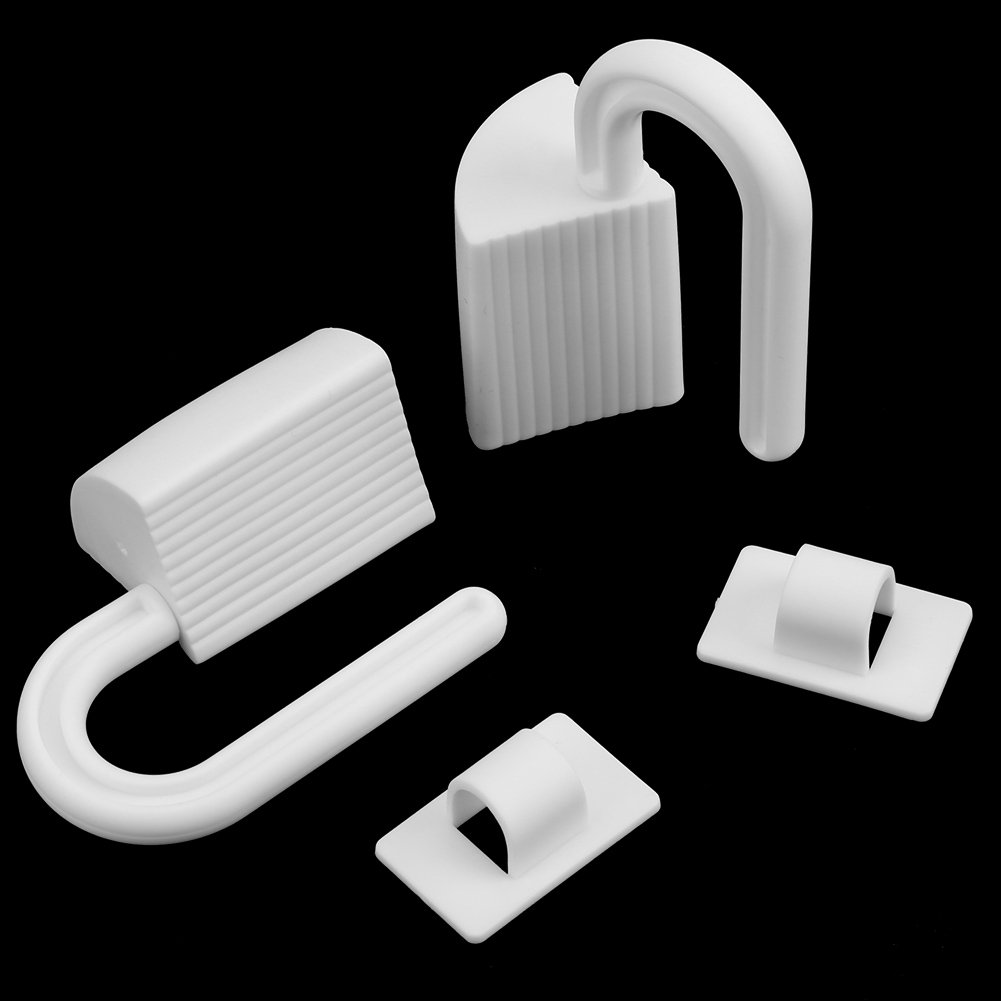 Finger Pinch Guards Plastic Kids Safety Door Stopper,Baby Safety Finger Protectors White 2pcs