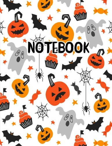 Notebook: Scary Halloween Ghost Pumpkin Cupcake Journal 8.5 x 11 (Fun Halloween Journals) (Volume -