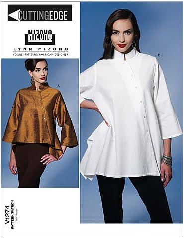 VOGUE PATTERNS V1274 - Patrones de Costura para Camisas holgadas de Mujer (Talla ZZ: L-XL-XXL)