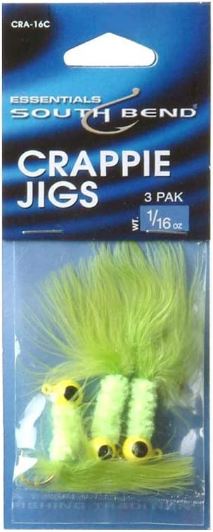 Chartreuse 1//16-Ounce South Bend Crappie Jig
