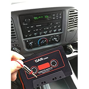 Dikley Car Audio Tape Cassette Adapter 3.5mm Male Jack for Smart Phone iPod iPad MP3 MP4 CD Player MD Player