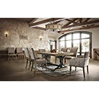 Roundhill Furniture T428-C428-C428-C428-C428A Kitchen and Dining Room Sets, One Size, Brown