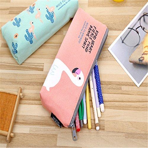Miyaia Rosa Netter Vogel Federmäppchen Briefpapier-Bleistift Tasche Kosmetikum Tasche Beste Geschenk für Mädchen
