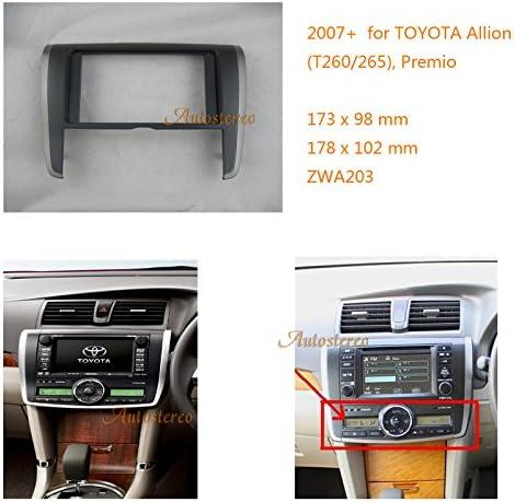 Car Radio Installation Frame TOYOTA Allion T260//265 Premio Stereo Fascia Dash CD Trim Installation Kit Autostereo Double Din Car Radio frame facia fascia for TOYOTA Allion T260//265 Premio 2007
