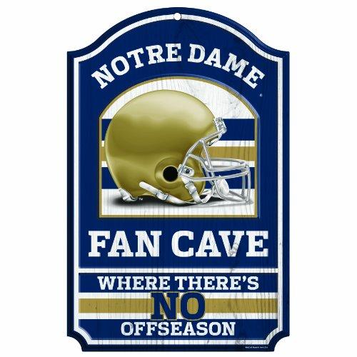 NCAA Notre Dame Fighting Irish Fan Cave Wood Sign, 11