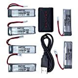 Tiean 3.7V 500mAh Li-Polymer Battery +A Six Charger For JJRC H37 RC Quadcopter