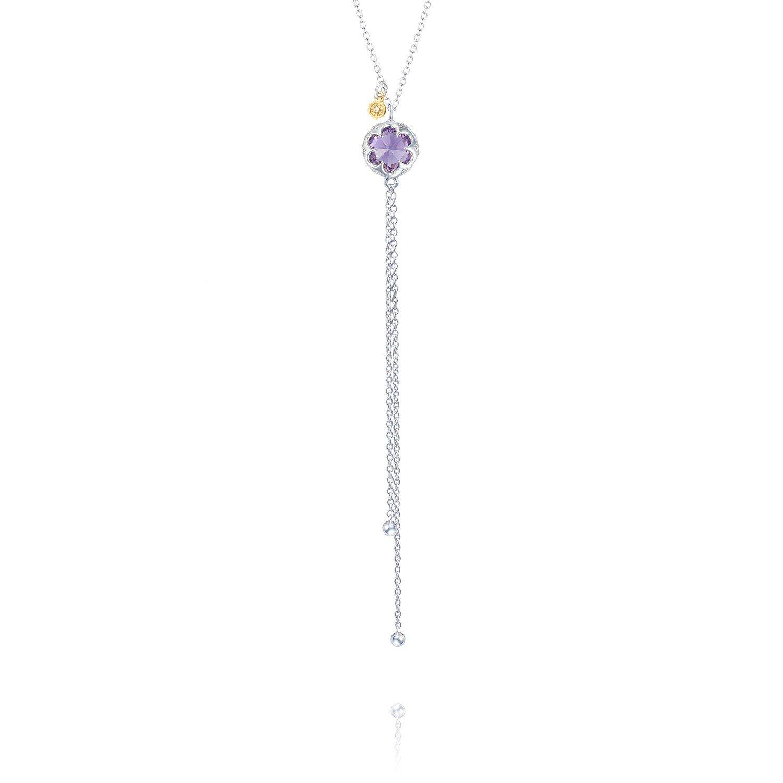 Tacori SN20101 Sterling Silver Sonoma Skies Amethyst Petite Lariat Necklace, 18''