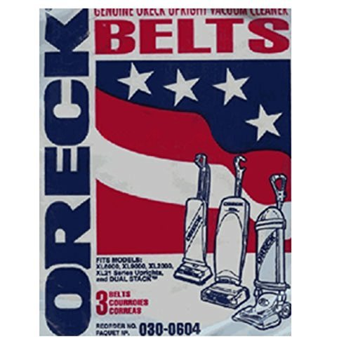 Oreck XL Series Upright Vacuum Cleaner Flat Belts 3 Pk Part # 75024-01 (Flat Vacuum Belt)