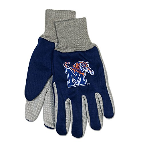WinCraft NCAA Memphis Tigers Two-Tone Gloves, Blue/Gray