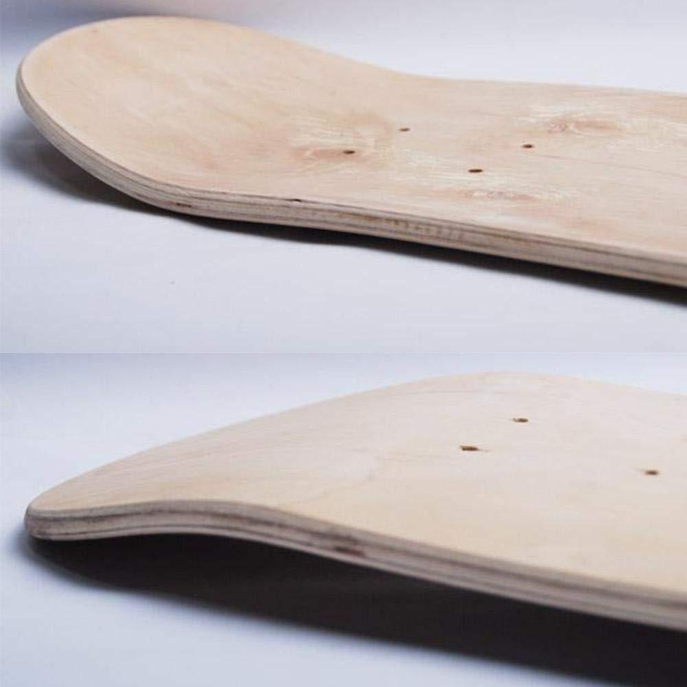 8-Layer 8 Pollici Deck Skateboard per Adulti Fai da Te Skateboard Skateboard Skateboards per Principianti E Professionisti chenut Skateboard Deck