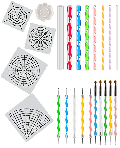 Apipi 23 Packs Dotting Tools Kit - Christmas Gifts for Woman -Painting Dotting Stencil Dot for Rock Painting,Nail Art,Drawing & Drafting