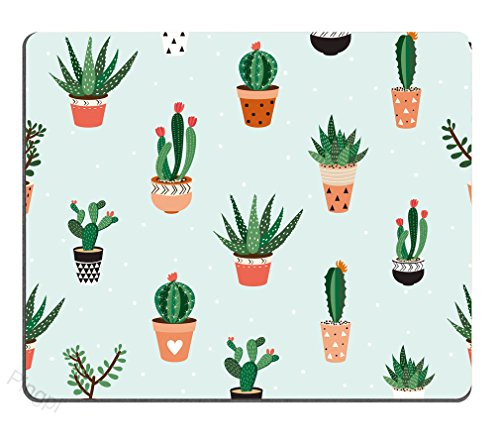 Succulents Cactus Mouse Pad Mousepad Mat – Rectangular – Computer Accessories Custom Desk Coworker Gifts Office Gifts