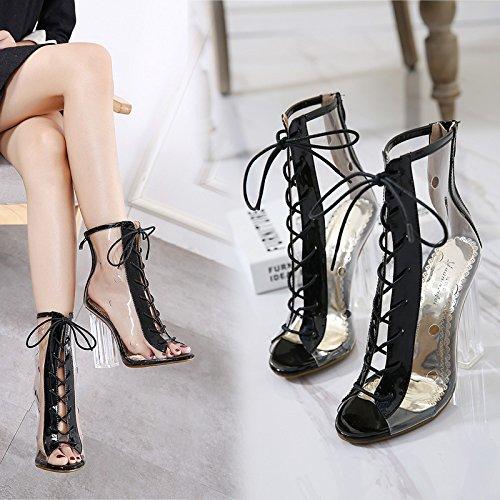 ZHZNVX scarpe scarpe nuova scarpe scarpe con fascetta alti singolo trasparenti cool estate crystal scarpe tacchi La di apricot sandali con i donna spessore cross Rrn1TRwx5q