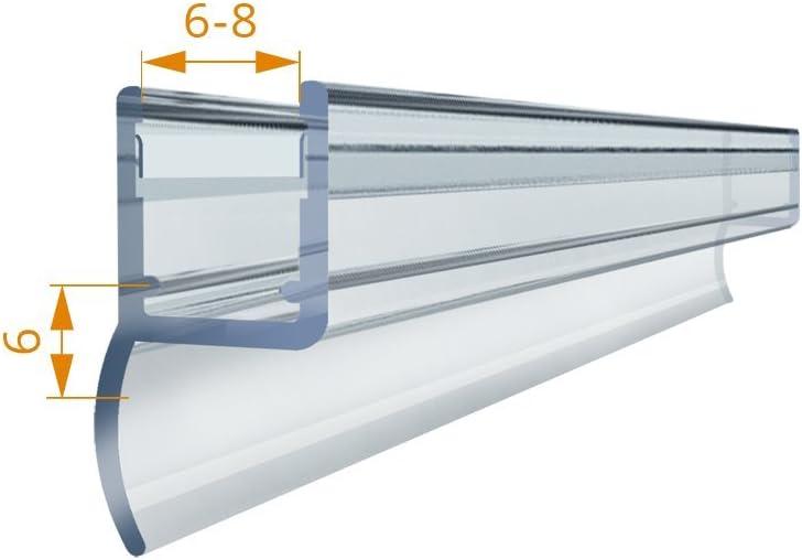 Meister ducha Junta 2 m, 200 cm Agua 823 Perfil Junta goma lengüeta para puerta de ducha vertical universal resistente al agua Junta labio para anti-lluvia Junta para puertas. Suciedad labio duschlippe: