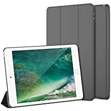 iPad Air 2 Case, JETech iPad Air 2 Slim-Fit Smart Case Cover for Apple iPad Air 2 (iPad 6) 2014 Model Ultra Slim Lightweight Stand with Smart Cover Auto Wake/Sleep (Dark Grey) - 3043