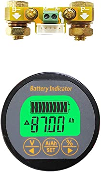 LCD DC Battery Monitor Meter 0-200V Voltmeter Ammeter Fit Cars RV Solar Tool Hot