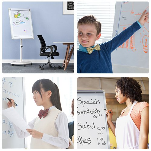 Mobile Dry Erase Board – 40x28 inches Magnetic Whiteboard by viatech (Image #6)'