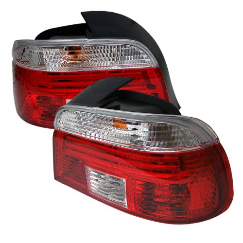 Spyder Auto ALT-CI-BE3997-RC BMW E39 5-Series Red/Clear Tail Light