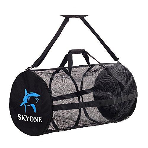 - Dive Bag Scuba Mesh Duffle Gear Bag Large with Shoulder Strap for Beach Travel