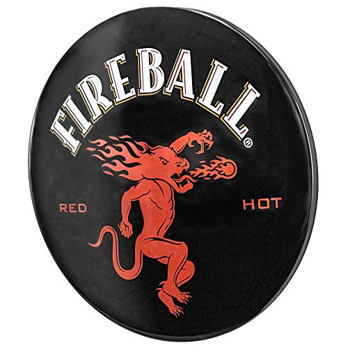 Officially Licensed Fireball Whiskey Dome Shaped Metal Sign Wall Decor for Bar, Garage or Man Cave ()