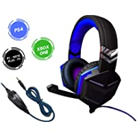 Headset Gamer Xbox One PS4 PC 7.1 Plug P3 3.5mm Som Do Jogo E Chat Cabo Nylon AZ