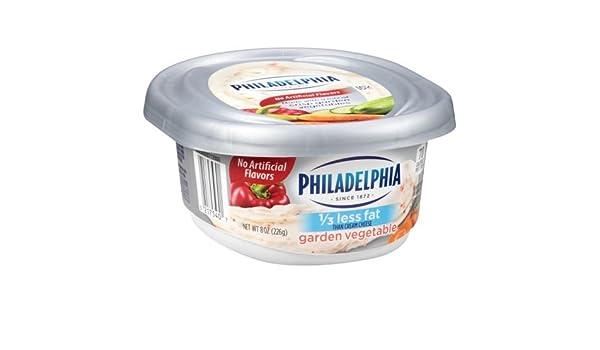 Philadelphia Reduced Fat Garden Vegetables Soft Cream Cheese Spread 8 Ounce 12 Per Case Amazon Com Grocery Gourmet Food
